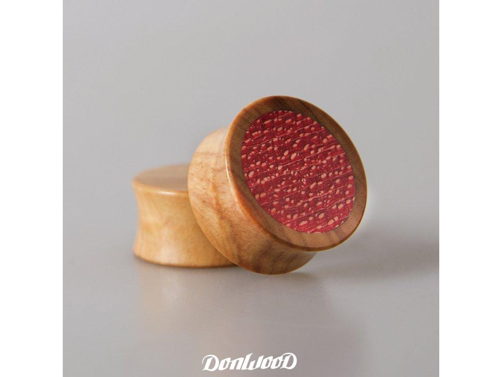 oliva-dreveny-plug-cerveny-pinup