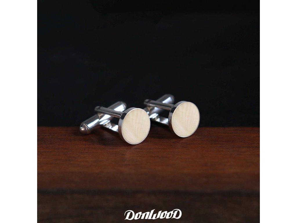 manzetove knoflicky stribro mamuti kel bile