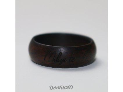 dreveny prsten leadwood miluji te