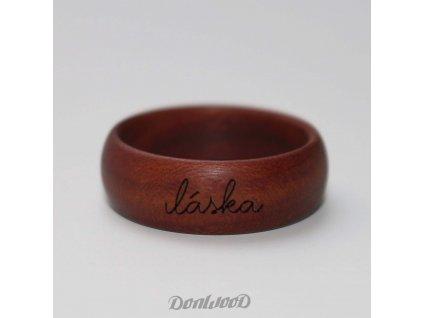 dreveny prsten donwood napis laska04