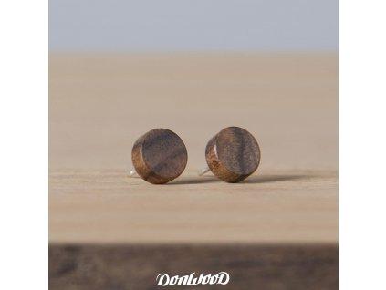 dřevěné naušnice ořech