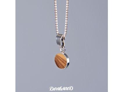 Donwood řetízek oliva stříbro