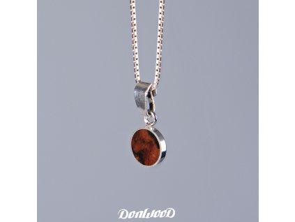 Donwood řetízek iron wood stříbro
