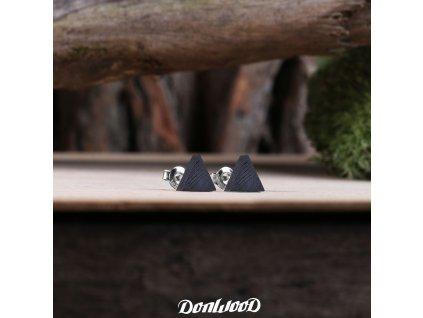 drevene nausnice trojuhelniky eben