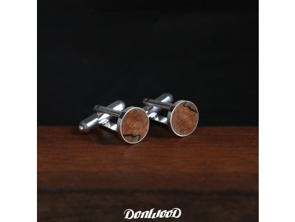 stribrné nanzetove knoflicky drevo kastan