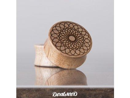 plug drevo orech mandala donwood