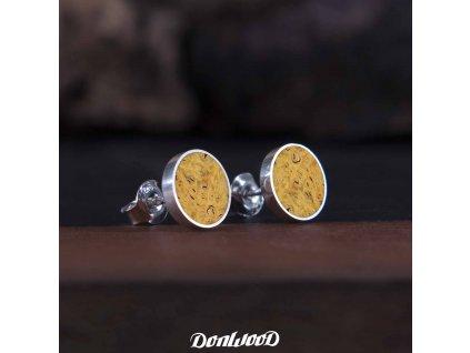 donwood žluté naušnice