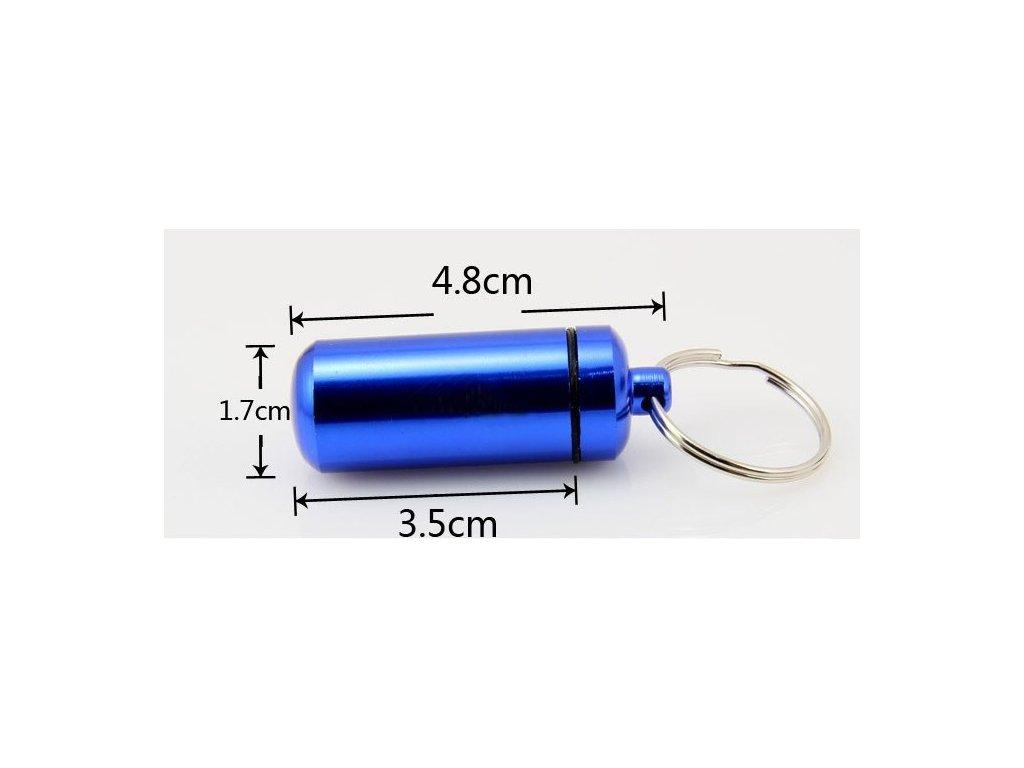 Hliníková kapsle - modrá