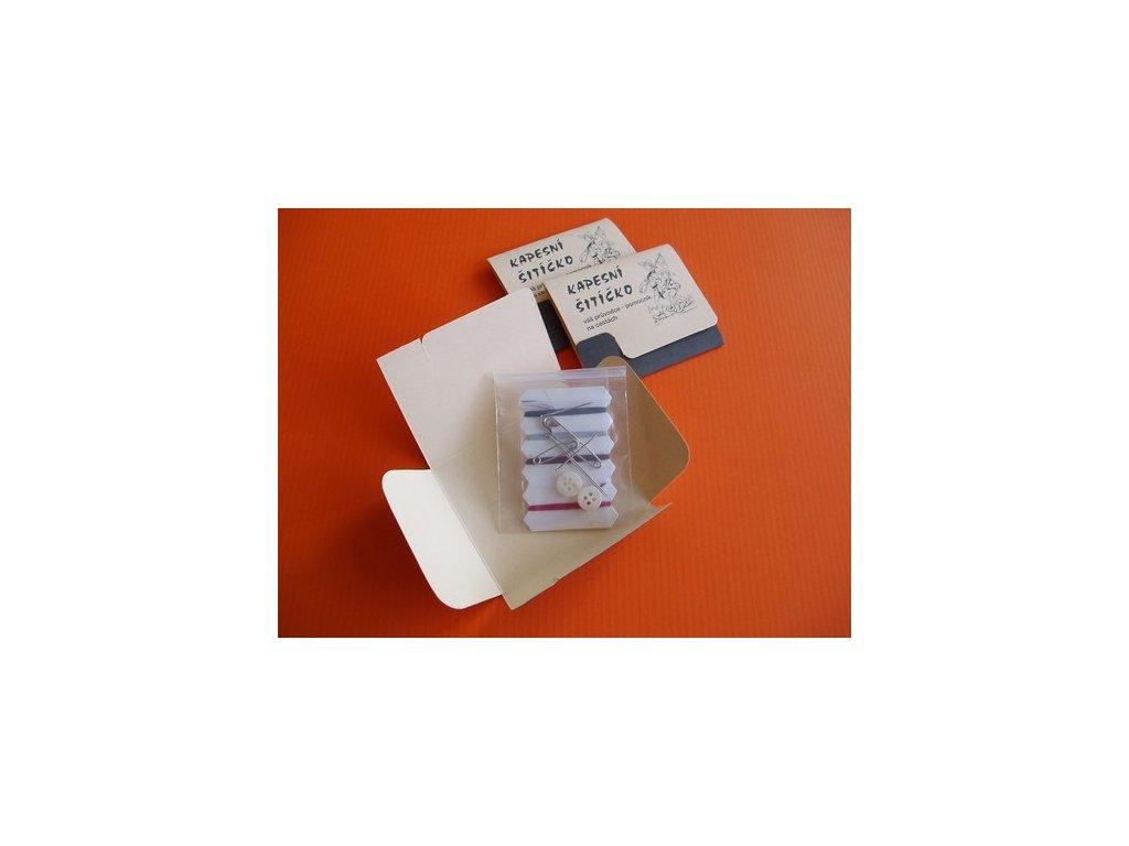 Kapesní šitíčko papírové