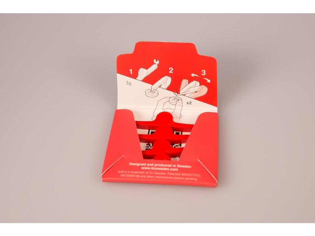 Přišít knoflík Tic® - červený