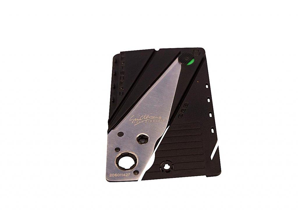 Nůž v kartě - stříbrný 2