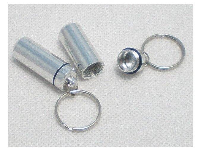 Hliníková kapsle stříbrná - malá
