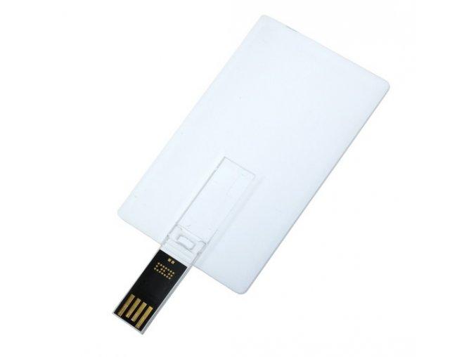 USB flash disk karta - bílá
