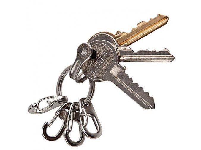 Kroužek s karabinou na klíče