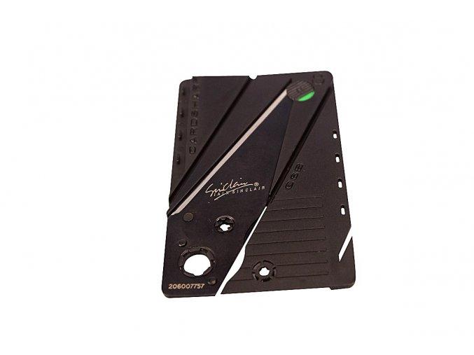 Nůž v kartě - černý 2