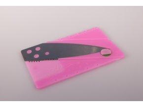 Nůž v kartě - růžový