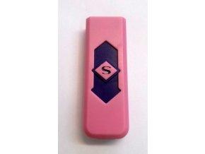 USB zapalovač -růžový