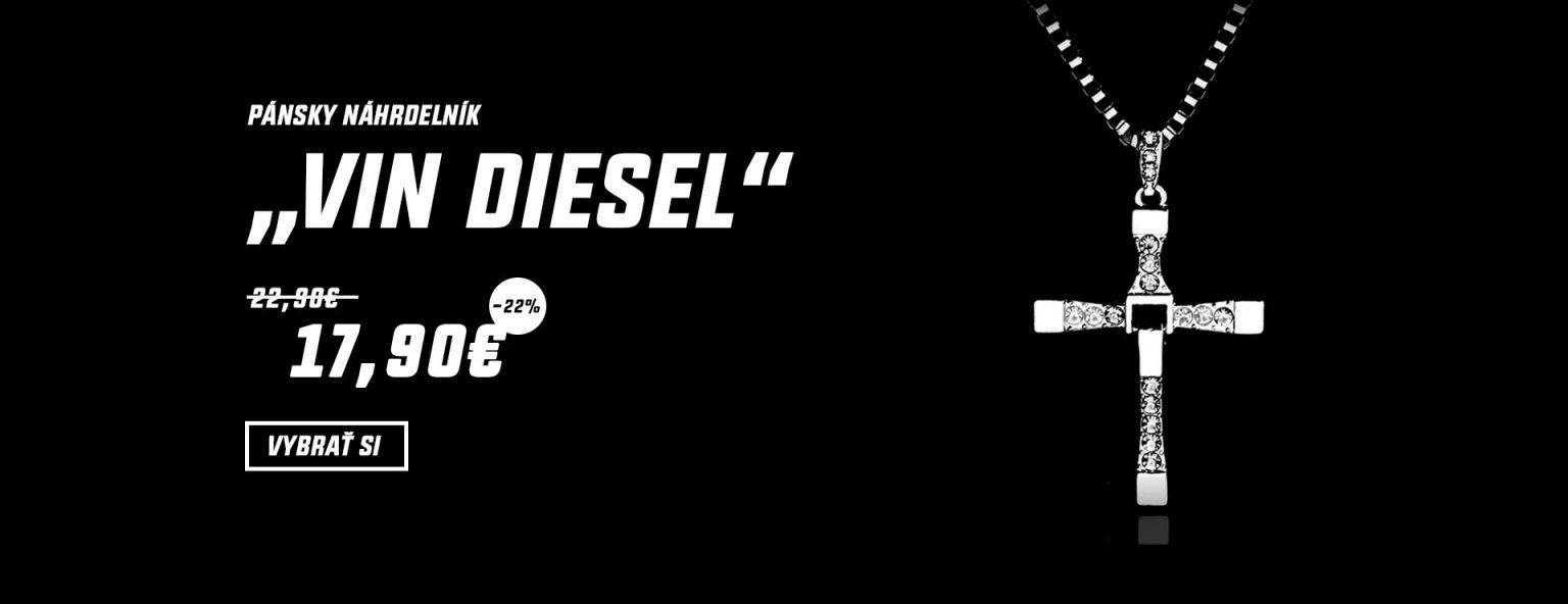 Vin Diesel náhrdelník 18K