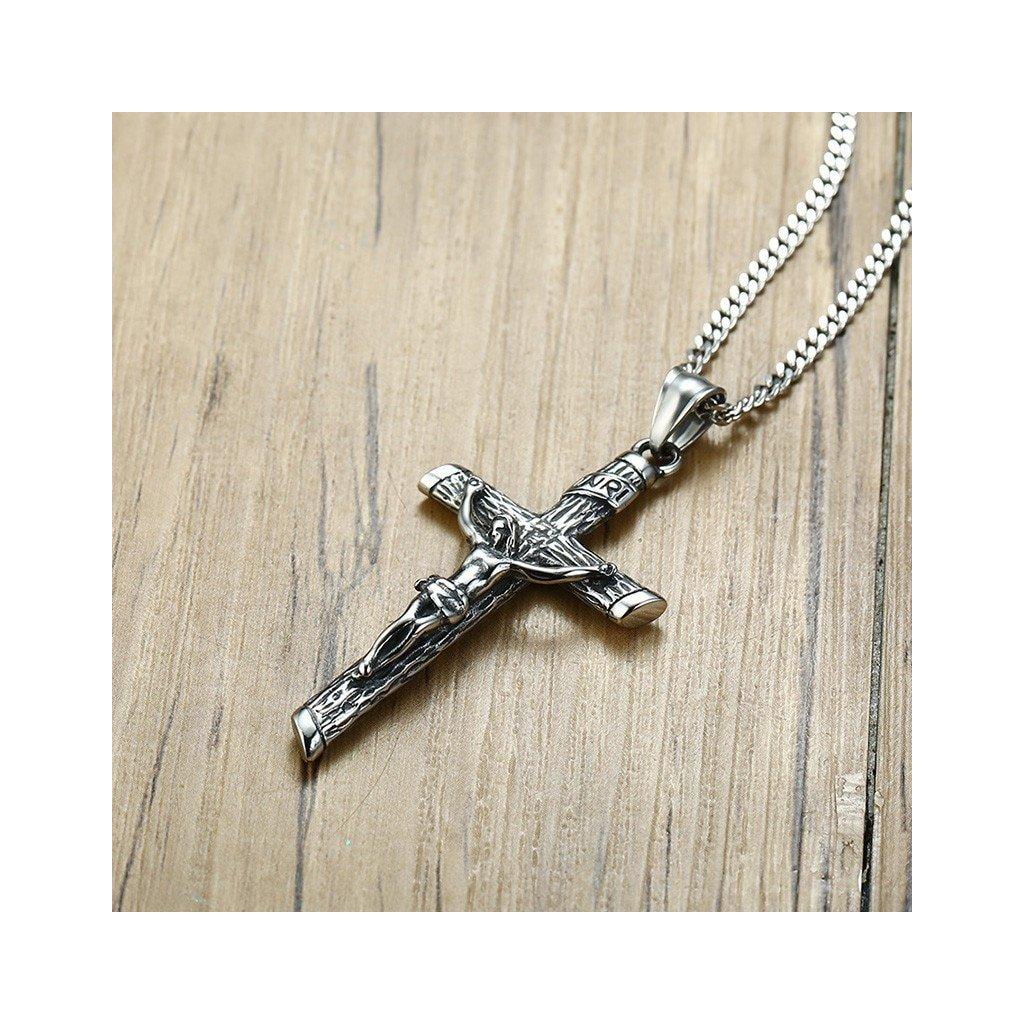 Pánsky náhrdelník s masívnym krížikom