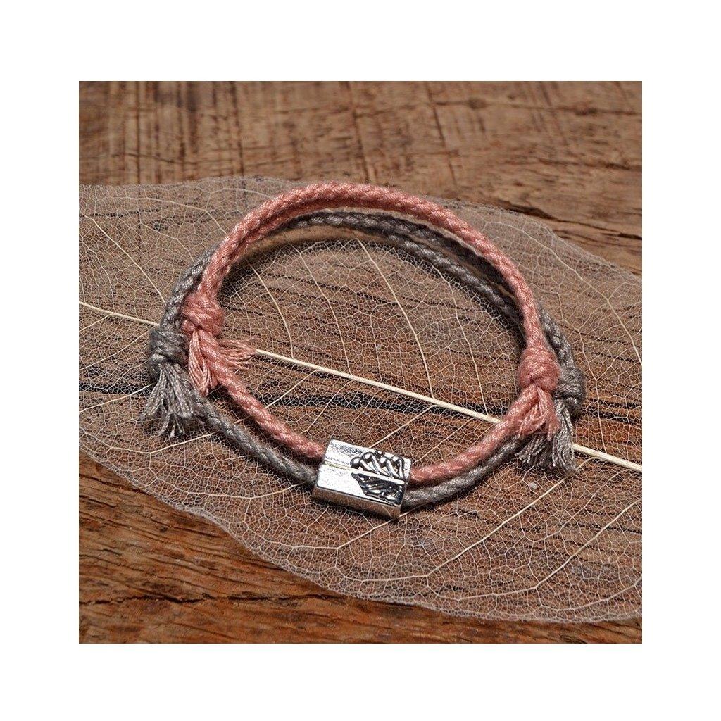 Pletené lanové náramky pre pár