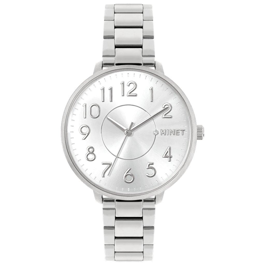 Strieborné dámske hodinky MINET PRAGUE Pure Silver