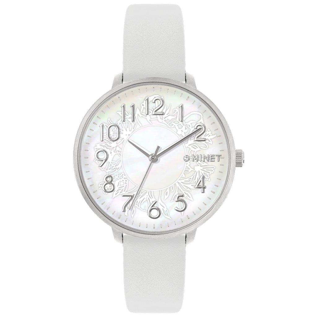 Biele dámske hodinky MINET PRAGUE White Flower