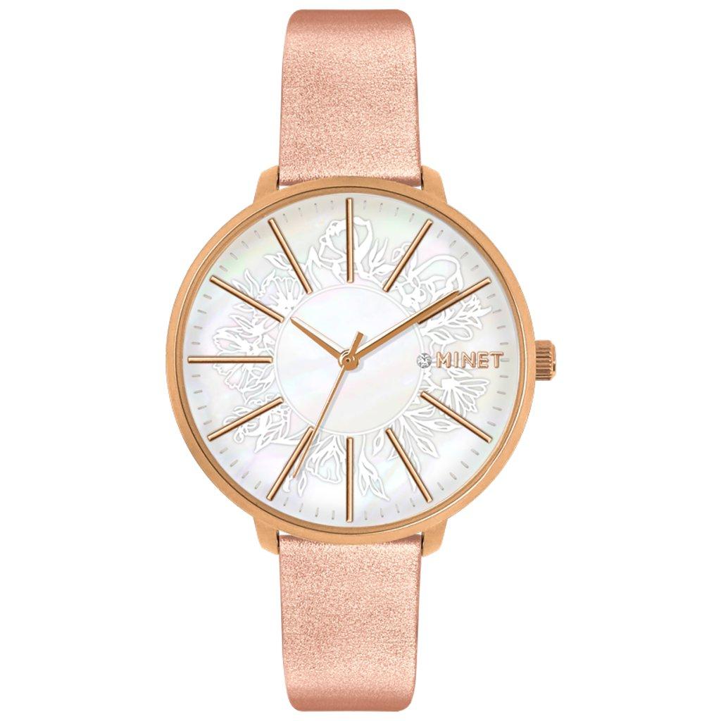 Rose gold dámske hodinky MINET PRAGUE Rose Flower