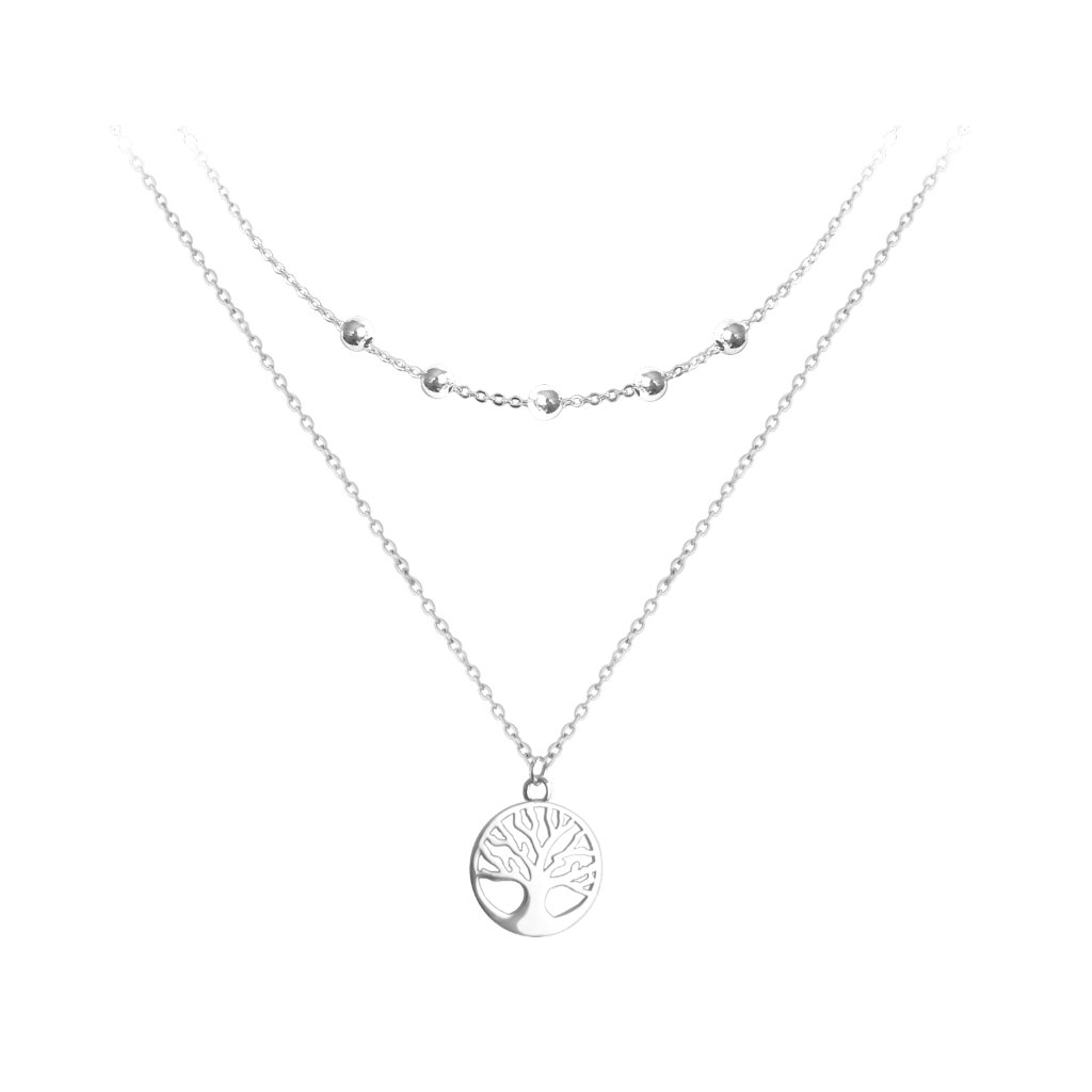 vojitý strieborný náhrdelník MINET STROM ŽIVOTA
