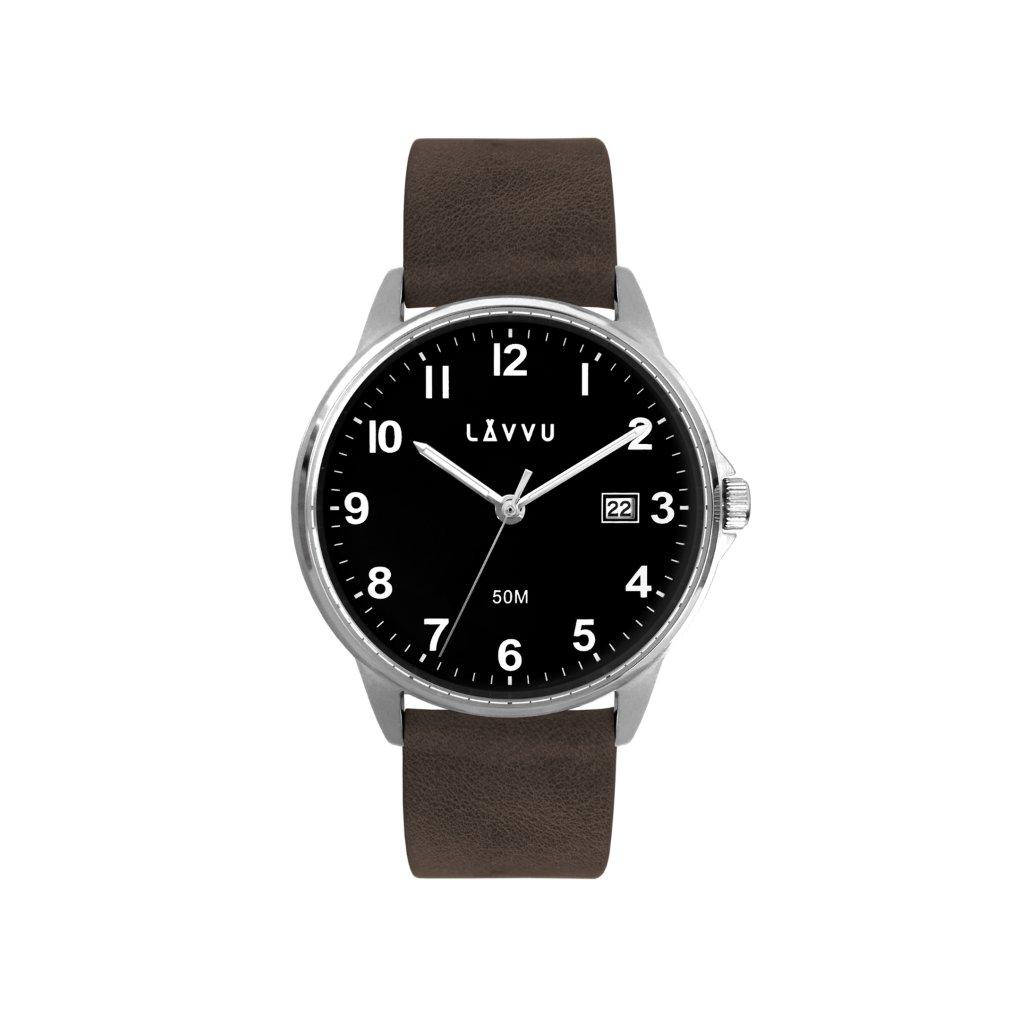 Tmavohnedé hodinky LAVVU GÖTEBORG