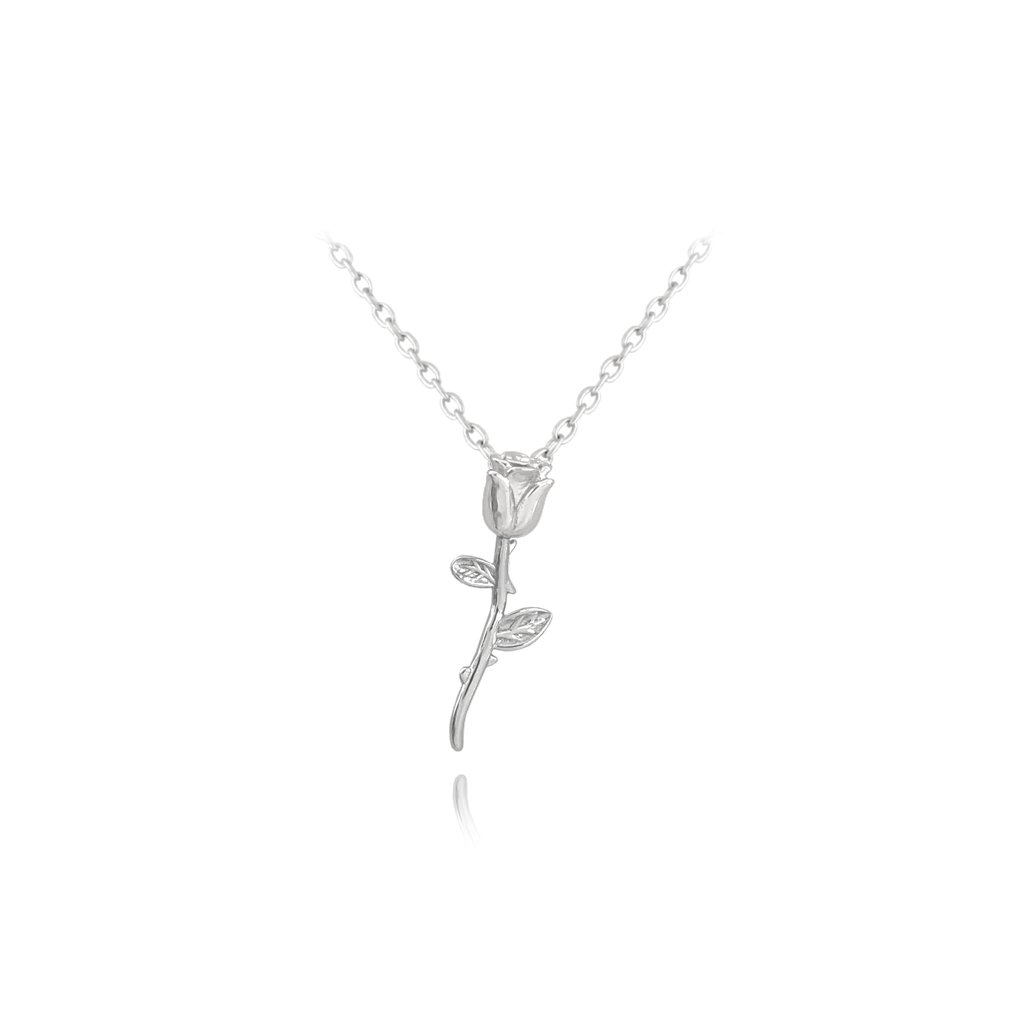 Strieborný náhrdelník MINET RUŽA