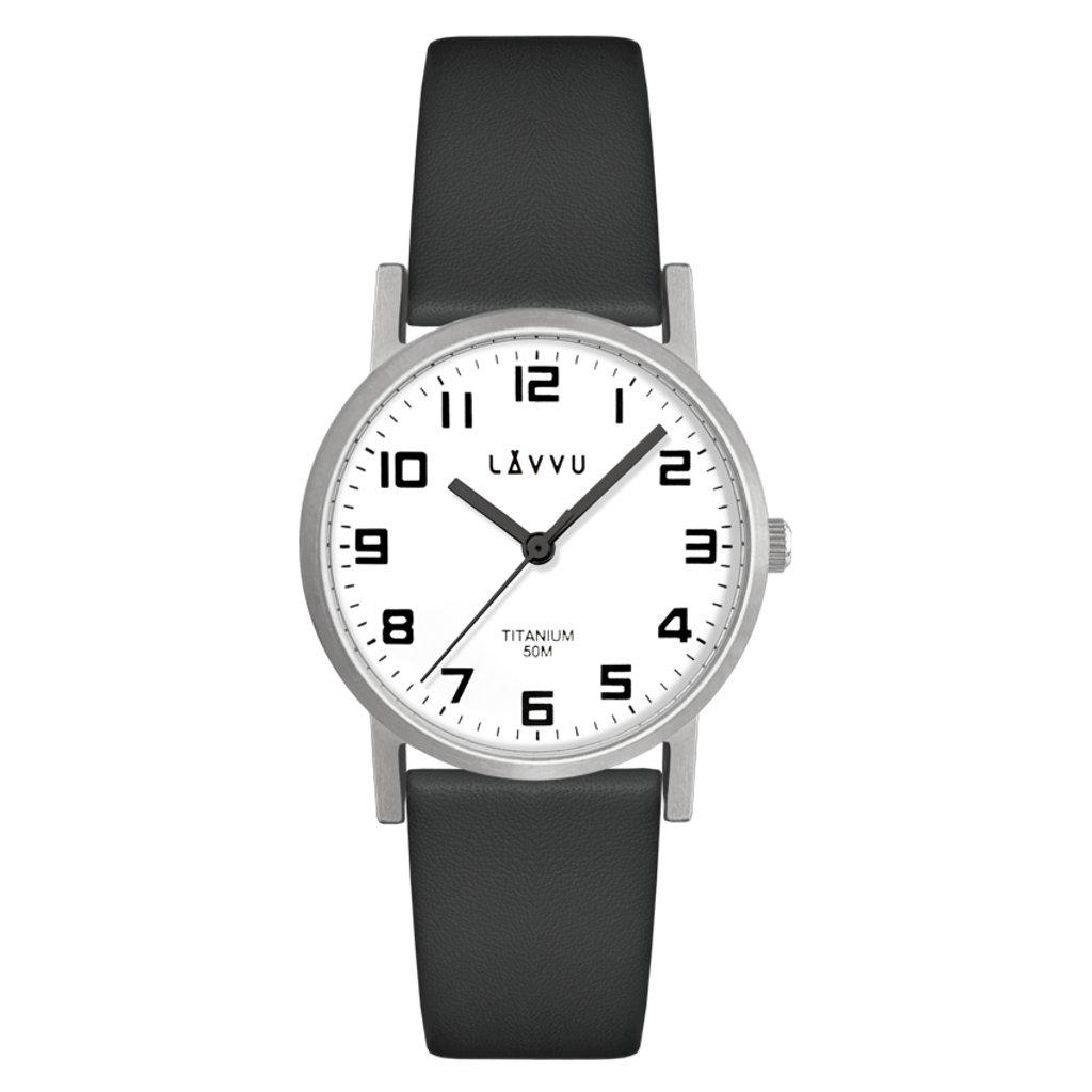 Strieborné dámske titánové hodinky LAVVU MANDAL