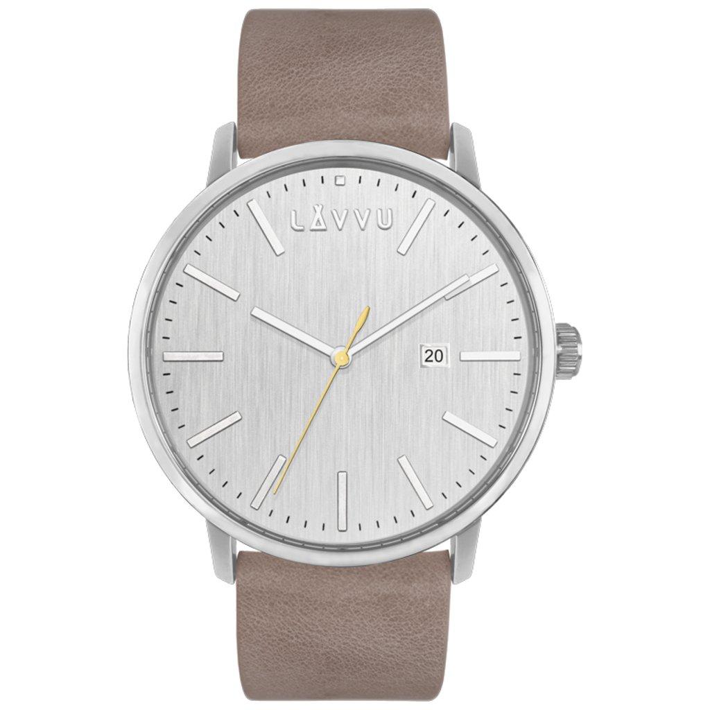 Pieskovo-sivé pánske hodinky LAVVU COPENHAGEN Coast