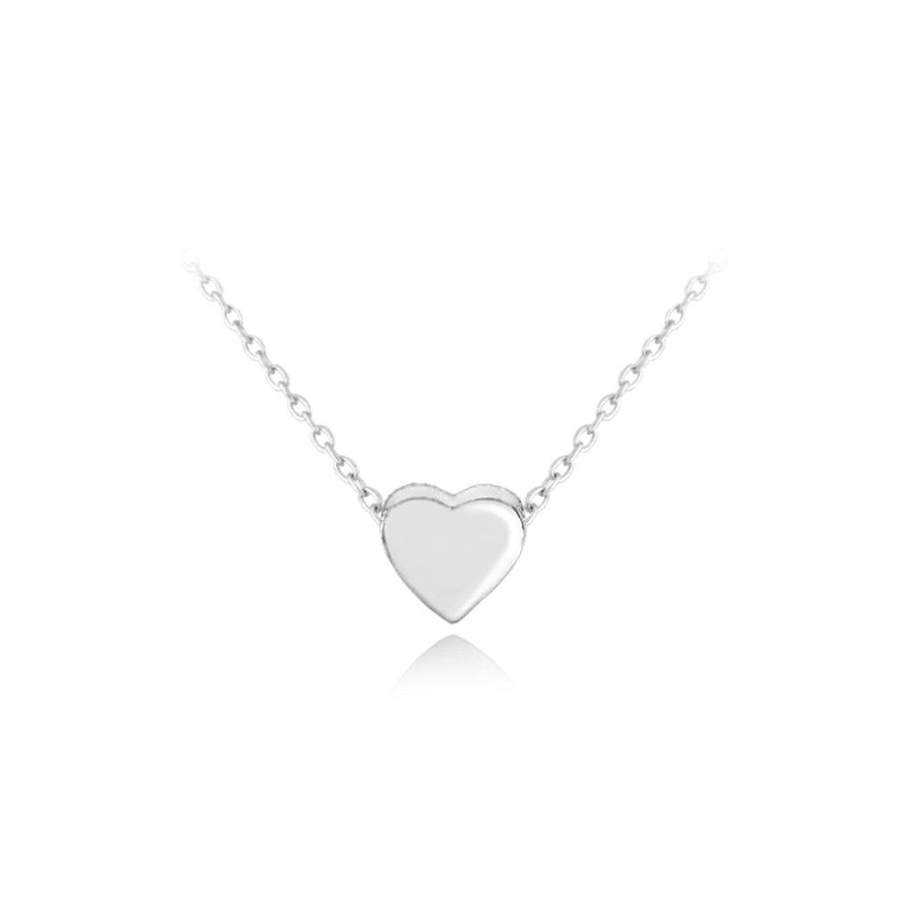 Strieborný náhrdelník MINET LOVE so srdiečkom