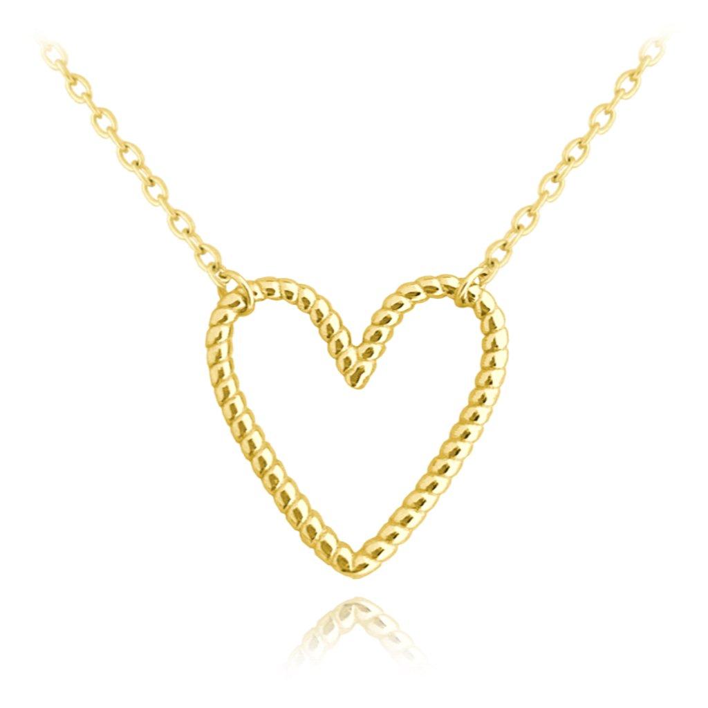 Pozlátený strieborný náhrdelník MINET SRDCE