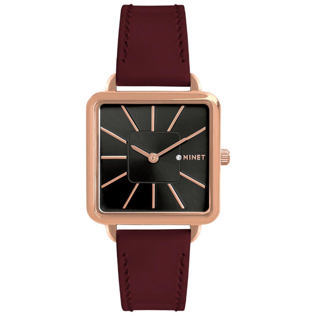 Vínové dámske hodinky MINET OXFORD BORDEAUX Seduction