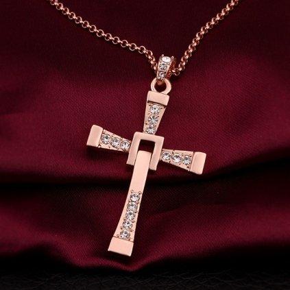 Vin Diesel náhrdelník 18K - ružový