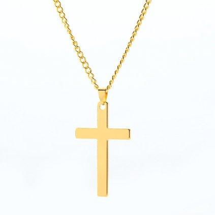 Elegantný pánsky náhrdelník s krížom