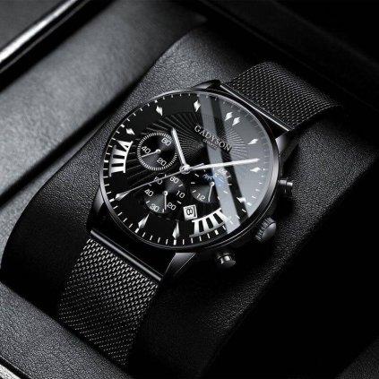 Pánske hodinky s číselníkom v tvare diamantu