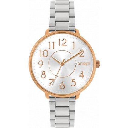 Ružovo-strieborné dámske hodinky MINET PRAGUE Rose & Silver