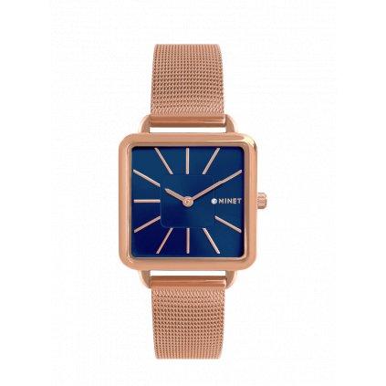 Rose gold dámske hodinky MINET OXFORD Blue Rose