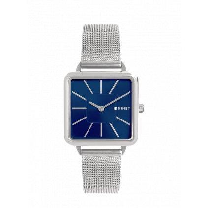 Strieborno-modré dámske hodinky MINET OXFORD Silver Blue Mesh