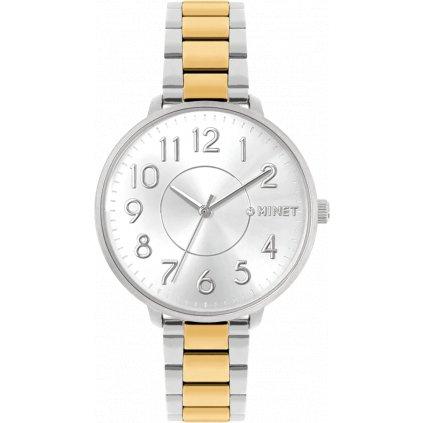 Strieborno-zlaté dámske hodinky MINET PRAGUE Silver & Gold