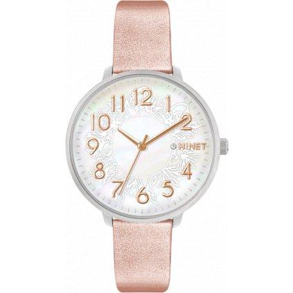 Rose gold dámske hodinky MINET PRAGUE Rose Flower s číslami