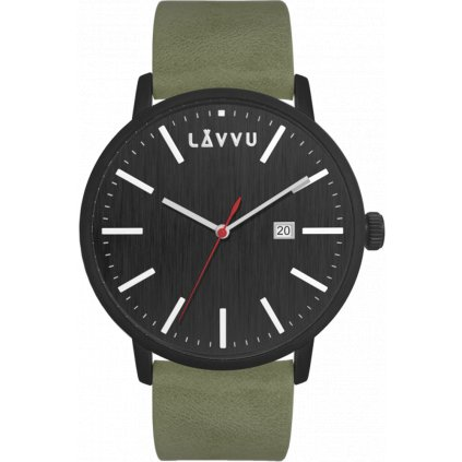 Čierno-zelené pánske hodinky LAVVU COPENHAGEN