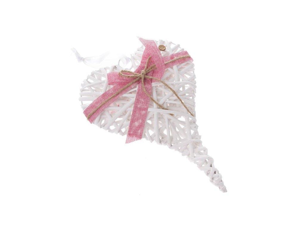 SUP4109 V závěsné srdce s růžovou mašlí