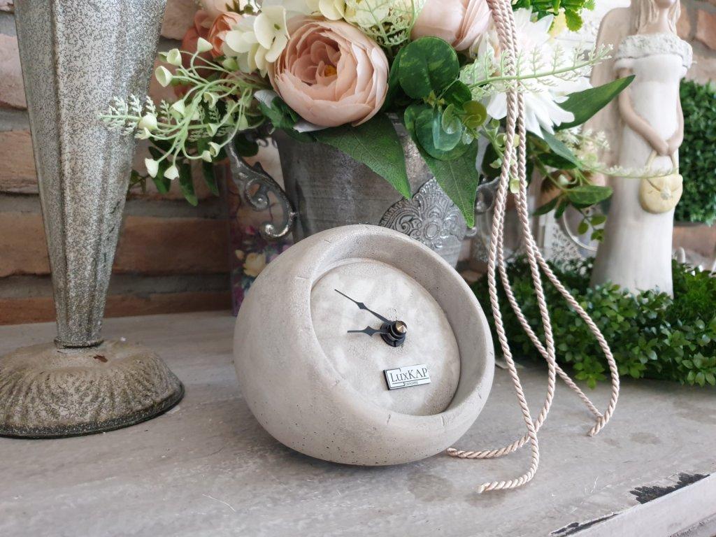 Stolní hodiny šedé 0033S