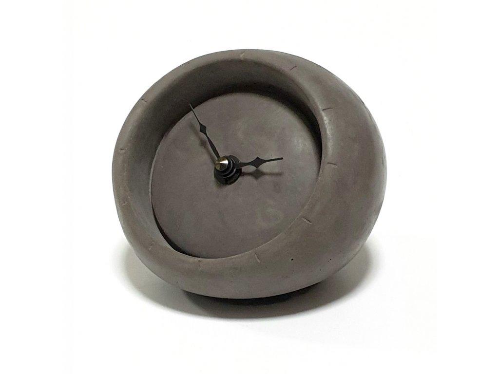 Betonové stolní hodiny tmavě šedé 0019S