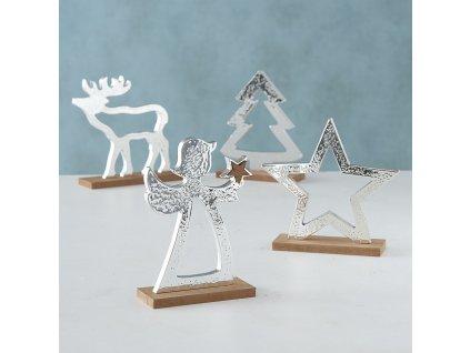 Dřevěná Vánoční dekorace anděl
