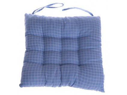 DKPOL1926 sedák na židli modrý