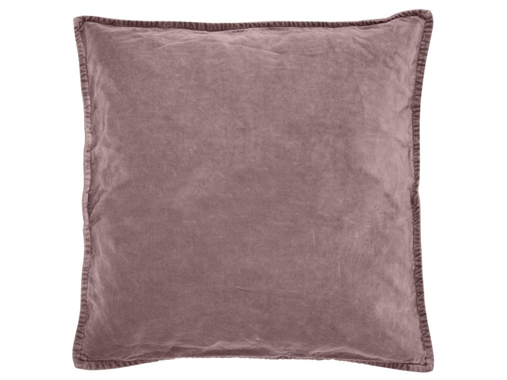 Sametový povlak na polštář popelavě růžový